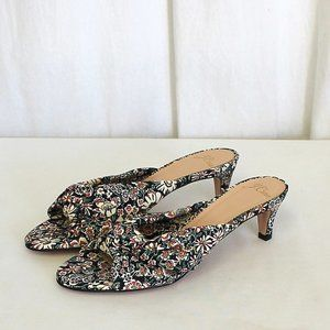 J Crew Knotted kitten heels in floral L5713 New
